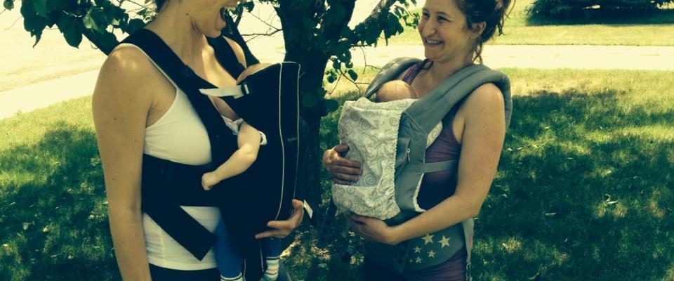 new mama wellness baby wearing bjorn ergo