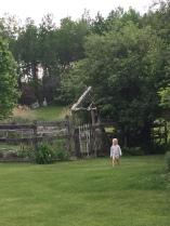 barefoot garden outside newmamawellness