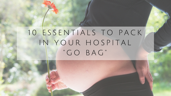 packing for labor, hospital stay, what to bring to the hospital, birth, delivery, packing checklist for birth